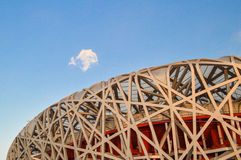 Het Neststadion van de vogel in Peking Royalty-vrije Stock Afbeeldingen