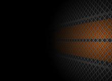 Het net en de muur van het metaal Stock Fotografie