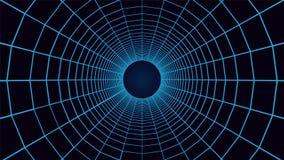 Het net tunel, schakelt 3d abstracte achtergrond in Stock Foto's