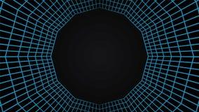 Het net tunel, schakelt 3d abstracte achtergrond in Stock Foto