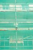 Het net van de veiligheid over steiger. stock fotografie