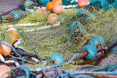 Het net van de visserij Stock Foto's