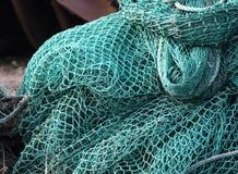 Het net van de visserij op een boot Royalty-vrije Stock Afbeelding