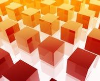Het netillustratie van kubussen Royalty-vrije Stock Foto