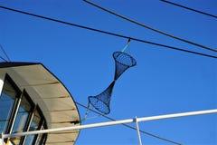 Het netto symbool van het vissersvaartuigsignaal stock fotografie