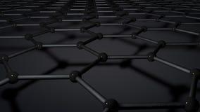 Het netvorming van de Graphenemolecule royalty-vrije illustratie