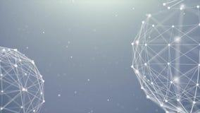 Het Netwerk die van de aardebol met lijn van Vlecht de Digitale Verbindingen roteren vector illustratie