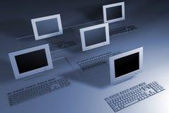 Het netwerk van computers Royalty-vrije Stock Afbeelding