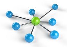 Het netwerk van de aansluting vector illustratie