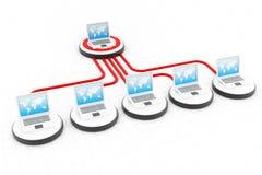 Het Netwerk van de computer stock afbeelding