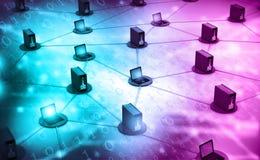 Het netwerk van de computer met server Royalty-vrije Stock Afbeelding