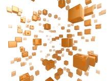 Het netwerk van de kubus Stock Afbeeldingen