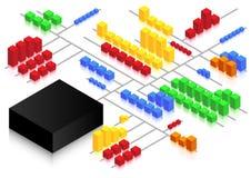 Het Netwerk van de kubus Royalty-vrije Stock Afbeeldingen