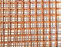 Het netwerk van de staaldraad bij bouwwerf royalty-vrije stock afbeelding