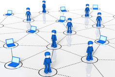 Het Netwerk van de Technologie van MiniToy Stock Afbeelding