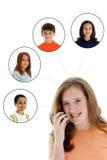 Het Netwerk van de Telefoon van de cel royalty-vrije stock foto