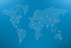 Het netwerk van de wereld Stock Afbeeldingen