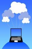 Het netwerk van de wolk royalty-vrije illustratie