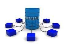 Het netwerk van het gegevensbestand Stock Foto's