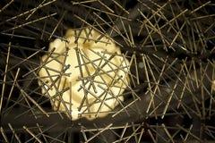 Het netwerk van het glas voor lamp Stock Foto's
