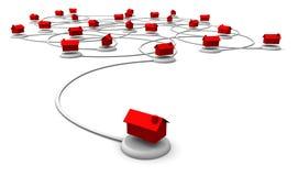 Het Netwerk van het Web van Huizen Royalty-vrije Stock Afbeelding