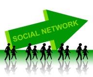 Het netwerk van mensen stock illustratie