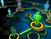 Het netwerk van mensen Stock Foto's