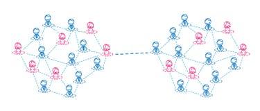 Het netwerk van vrouwen en mannen stock illustratie