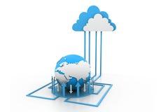 Het netwerk van wolkeninternet Stock Afbeelding