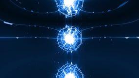 Het netwerk verbindt mensen aan Licht en Blauw vector illustratie