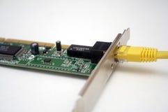 Het netwerkkaart en kabel van de computer Royalty-vrije Stock Foto's