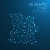 Het netwerkkaart van Angola Stock Foto's