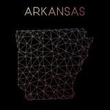 Het netwerkkaart van Arkansas Royalty-vrije Stock Foto