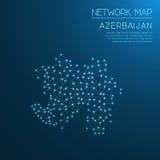 Het netwerkkaart van Azerbeidzjan Royalty-vrije Stock Afbeelding