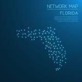 Het netwerkkaart van Florida Royalty-vrije Stock Afbeeldingen