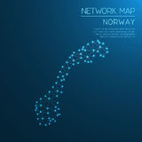 Het netwerkkaart van Noorwegen royalty-vrije illustratie