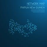 Het netwerkkaart van Papoea-Nieuw-Guinea Royalty-vrije Stock Afbeelding