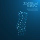 Het netwerkkaart van Portugal Royalty-vrije Stock Foto