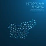 Het netwerkkaart van Slovenië Royalty-vrije Stock Foto