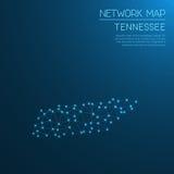 Het netwerkkaart van Tennessee Stock Foto