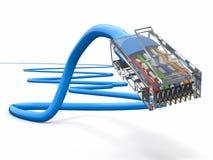 Het netwerkkabel van de computer rj45. 3d Stock Foto's
