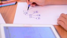 Het netwerkontwerp van tekeningsinternet