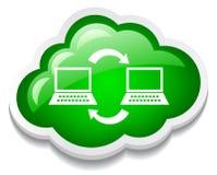 Het netwerkpictogram van de computer Stock Foto's