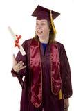 Het niet-traditionele Een diploma behalen van de Student Stock Afbeeldingen