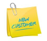 het nieuwe concept van het klanten postteken royalty-vrije illustratie