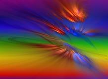 Het nieuwe dageraad breken door regenboog royalty-vrije illustratie