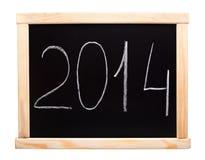 Het nieuwe die jaar van 2014 op bord wordt geschreven Royalty-vrije Stock Foto's