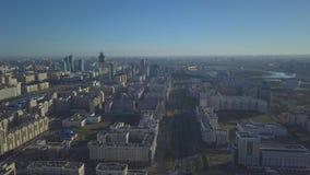 Het nieuwe district van Astana stock footage