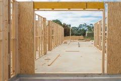 Het nieuwe Frame van de Bouw van het Huis Stock Foto