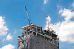 Het nieuwe gebouw Stock Afbeelding